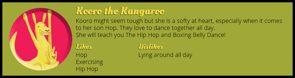 Kooro the Kangaroo Animal's Book of Dance